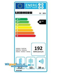 Liebherr CU 2831-20 koel / vriescombinatie