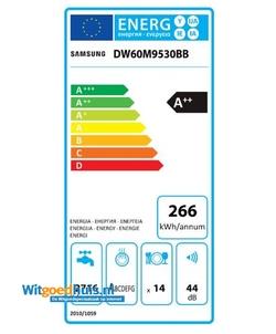 Samsung DW60M9530BB/ET inbouw vaatwasser