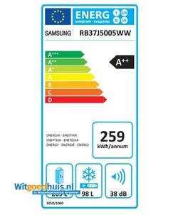 Samsung RB37J5005WW/EF koel / vriescombinatie