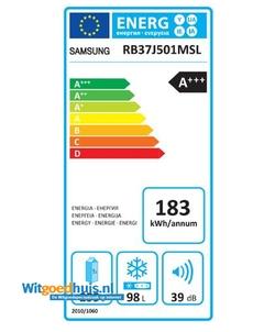 Samsung RB37J501MSL/EF koelkast