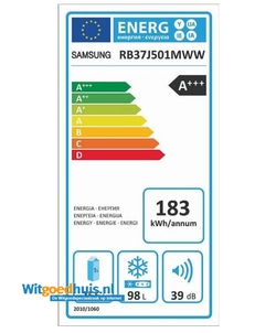 Samsung RB37J501MWW/EF koelkast