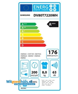 Samsung DV80T7220WH/S2 wasdroger