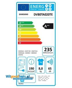 Samsung DV80TA020TE/EN wasdroger