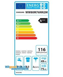 Samsung WW80M76NN2M/EN wasmachine