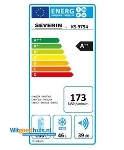 Severin KS 9794 koel / vriescombinatie
