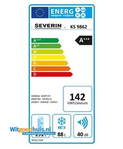Severin KS 9862 koel / vriescombinatie