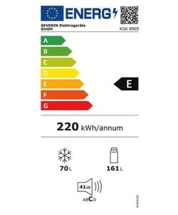 Severin KGK 8905 koelkast