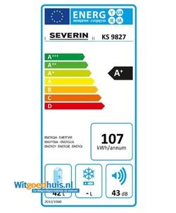 Severin KS 9827 koelkast