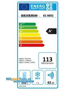 Severin KS 9892 koelkast