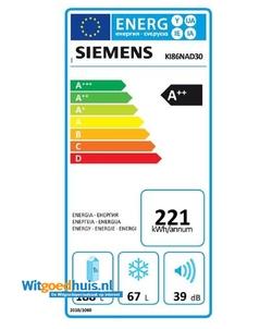 Siemens KI86NAD30 iQ500 inbouw koel / vriescombinatie