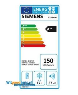 Siemens KI18LV60 iQ100 inbouw koelkast