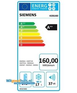 Siemens KI20LV60 iQ100 inbouw koelkast