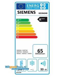 Siemens KI21RAD40 iQ500 inbouw koelkast