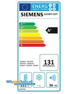 Siemens KI24RV21FF iQ100 inbouw koelkast