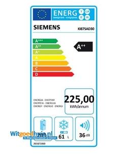 Siemens KI87SAD30 inbouw koelkast