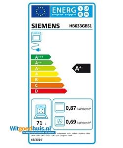 Siemens HB633GBS1 iQ700 inbouw oven