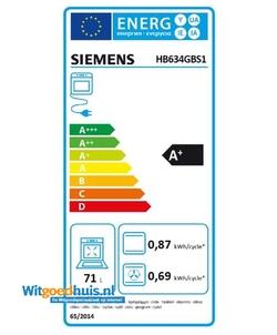 Siemens HB634GBS1 iQ700 inbouw oven