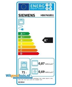 Siemens HB676GBS1 iQ700 inbouw oven