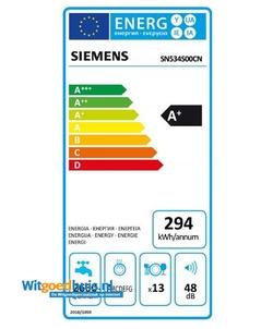 Siemens SN534S00CN iQ300 inbouw vaatwasser