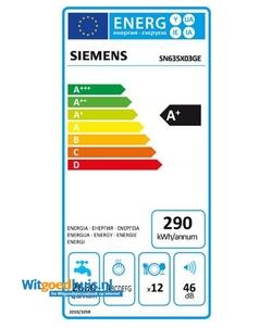 Siemens SN635X03GE iQ300 Extra Klasse inbouw vaatwasser