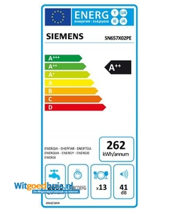 Siemens SN657X02PE iQ500 inbouw vaatwasser