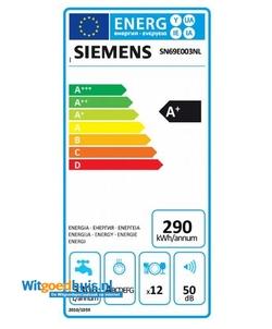 Siemens SN69E003NL iQ100 inbouw vaatwasser