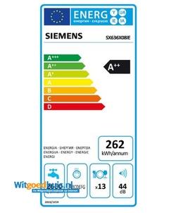 Siemens SX636X08IE iQ300 Extra Klasse inbouw vaatwasser