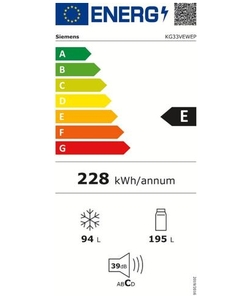 Siemens KG33VEWEP koelkast