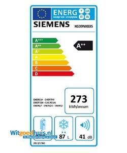 Siemens KG39NXB35 koelkast