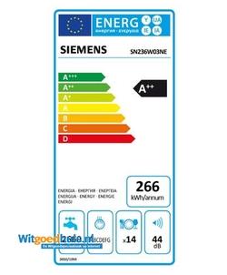 Siemens SN236W03NE vaatwasser