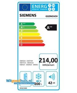 Siemens GS29NEW3V vrieskast