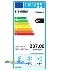 Siemens GS36NVW3P vrieskast