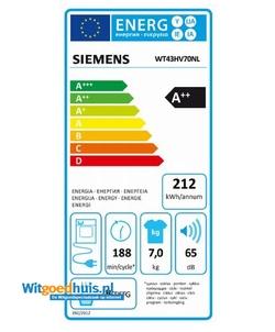Siemens WT43HV70NL wasdroger
