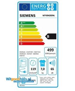 Siemens WT43N202NL wasdroger