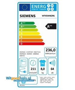 Siemens WT45W462NL wasdroger