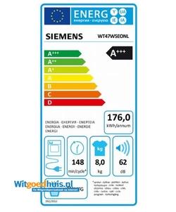 Siemens WT47W5EONL iQ700 Extra Klasse wasdroger