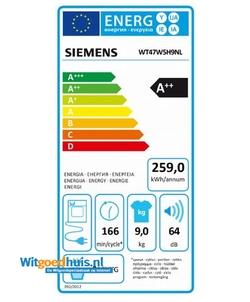 Siemens WT47W5H9NL iQ700 Extra Klasse wasdroger