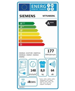 Siemens WT7U4692NL wasdroger