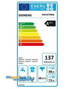 Siemens WM14T790NL iQ500 Extra Klasse wasmachine