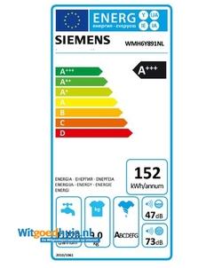 Siemens WMH6Y891NL iQ800 Extra Klasse wasmachine