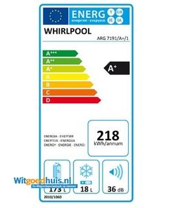 Whirlpool ARG 7191/A+/1 inbouw koelkast