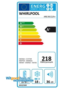 Whirlpool ARG 8612/A+ inbouw koelkast