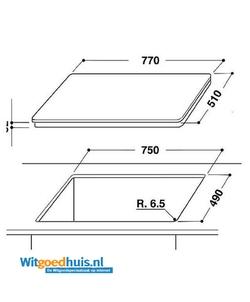 Whirlpool ACM 813/BA inbouw kookplaat