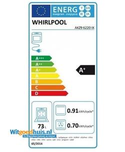 Whirlpool AKZ9 6220 IX inbouw oven