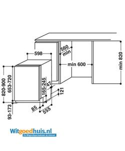 Whirlpool WCIC 3C26 PE inbouw vaatwasser