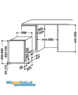 Whirlpool WIC 3B16 inbouw vaatwasser