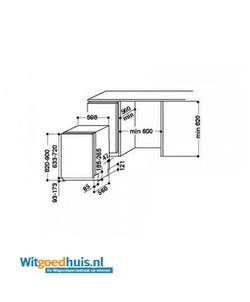 Whirlpool WIE 2B19 inbouw vaatwasser