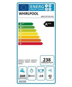 Whirlpool WIO 3T133 PLE inbouw vaatwasser
