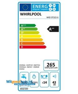Whirlpool WIO 3T323 6 inbouw vaatwasser