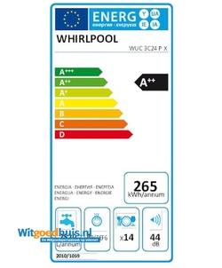Whirlpool WUC 3C24 P X inbouw vaatwasser